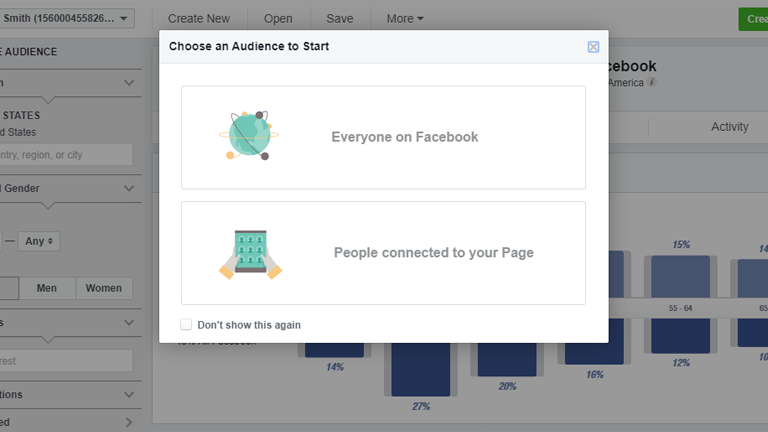 Select Your Audience - Facebook Audience Insights