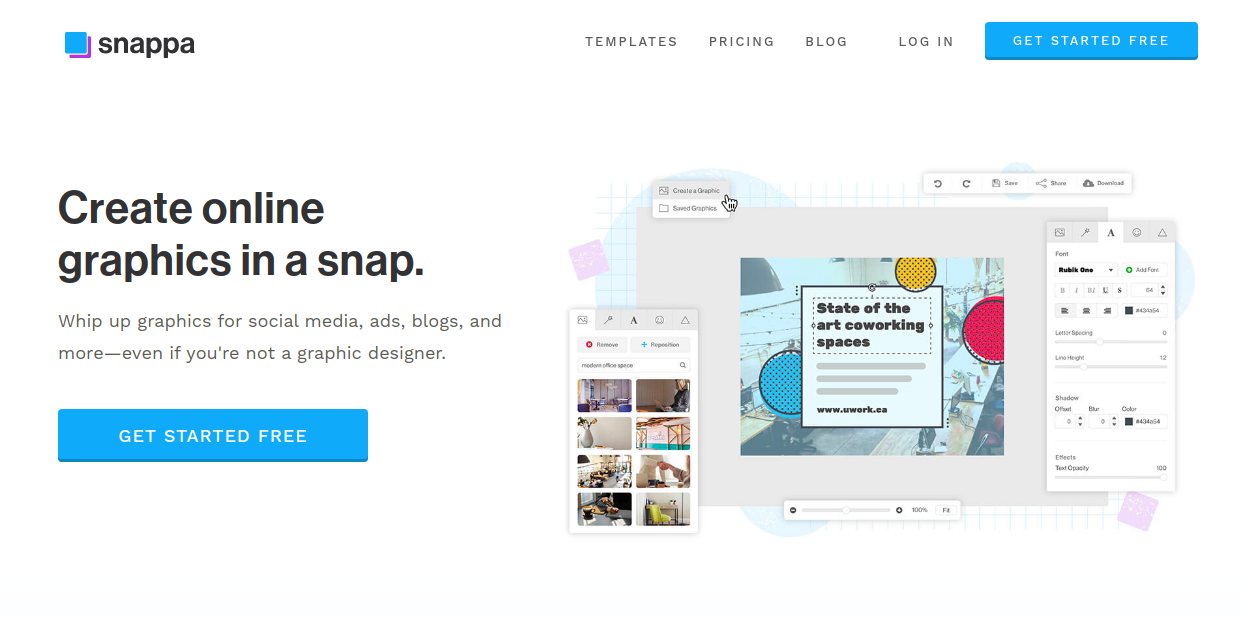 Snappa - youtube banner maker