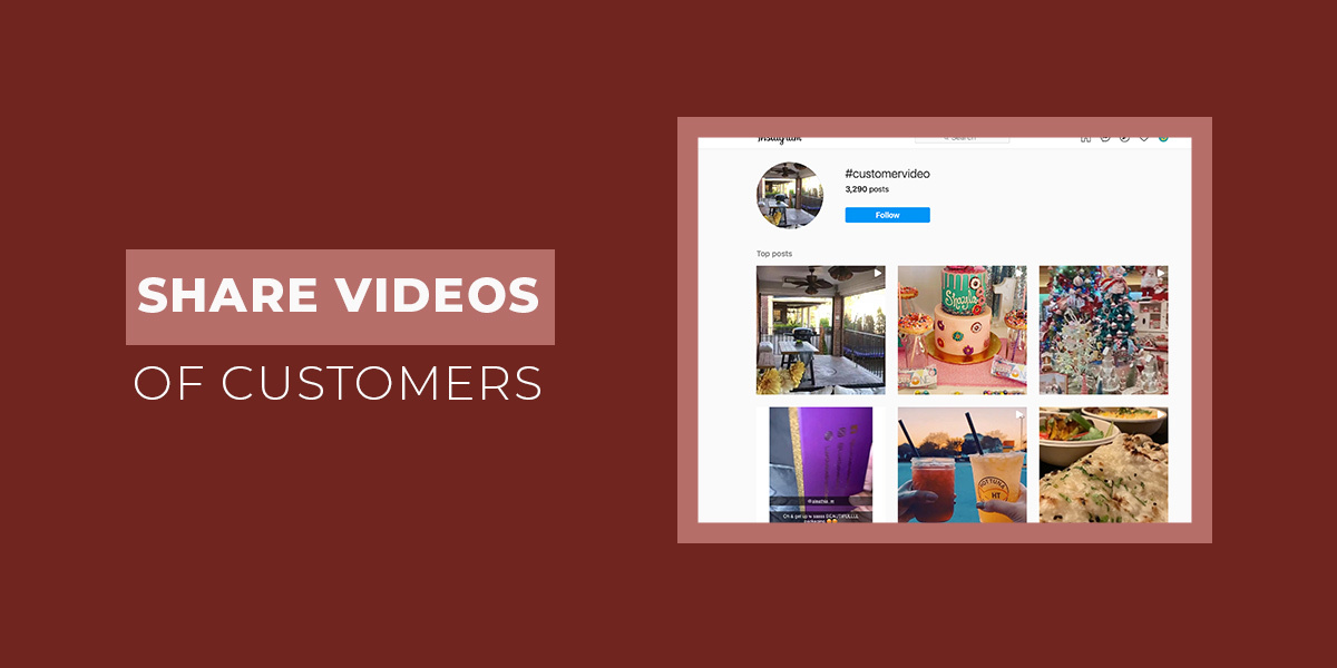 Share videos of customers through reels to grow more followers | Followedapp Blog