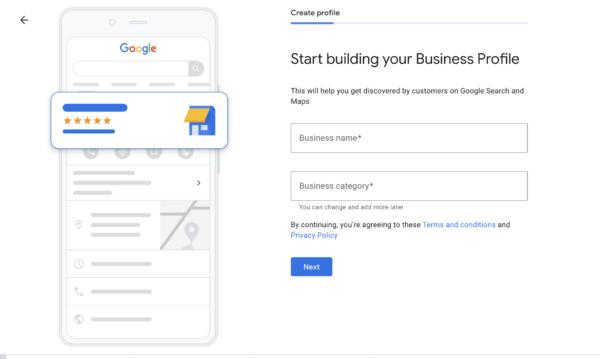 Create Google My Business Location