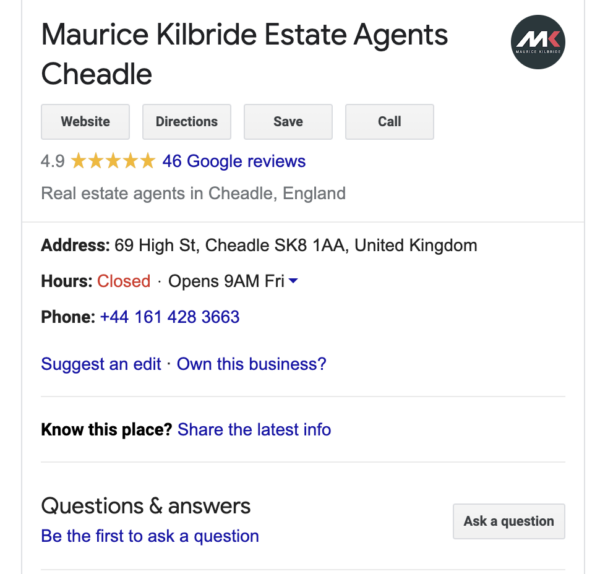 Google My Business location suggest edit